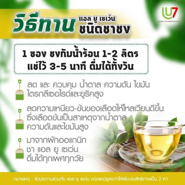 CHA7 ชาเซเว่น <strong>ชาผักเชียงดา</strong> ชาลดน้ำตาล #7