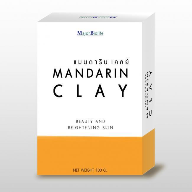 Mandarin Clay soap สบู่แมนดารินเคลย์ สบู่ดอกคำฝอย-1